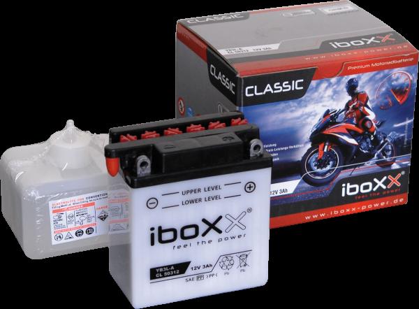 BATTERIE IBOXX YB3L-A, 12V, 3AH, STANDARD-CLASSIC - INKL. BATTERIESÄURE