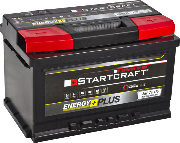 BATTERIE STARTCRAFT ENERGY +. 175, 12V / 74AH