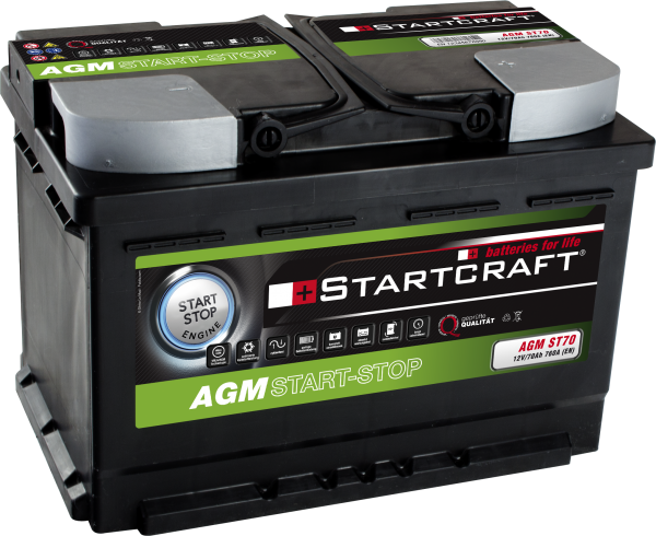 BATTERIE STARTCRAFT AGM START-STOP, 12V / 70AH