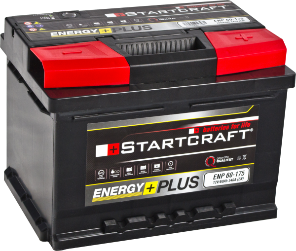 BATTERIE STARTCRAFT ENERGY +, 175, 12V / 60AH